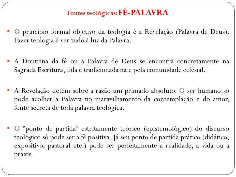 Fontes teológicas: FÉ-PALAVRA