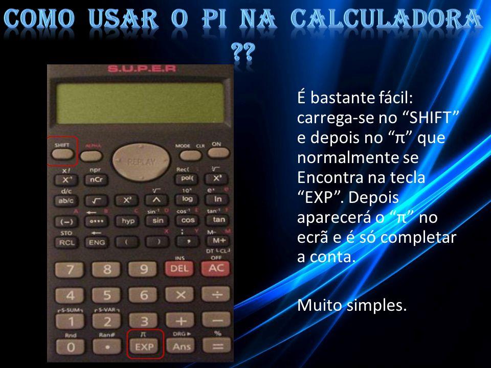 Como usar o Pi na calculadora