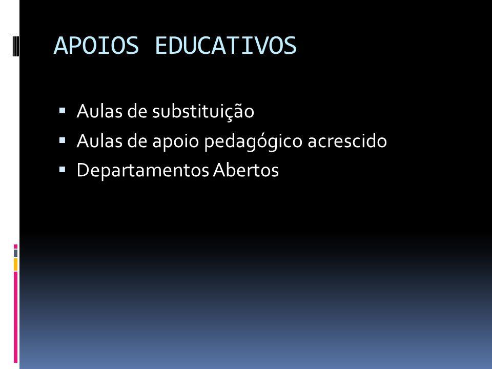 APOIOS EDUCATIVOS Aulas de substituição