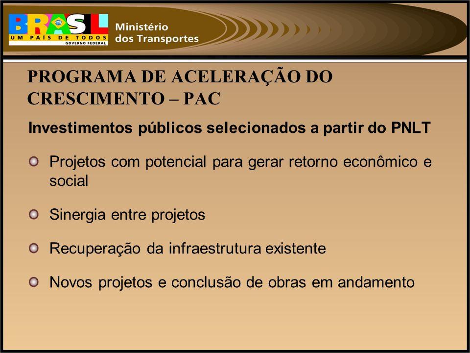 PROGRAMA DE ACELERAÇÃO DO CRESCIMENTO – PAC