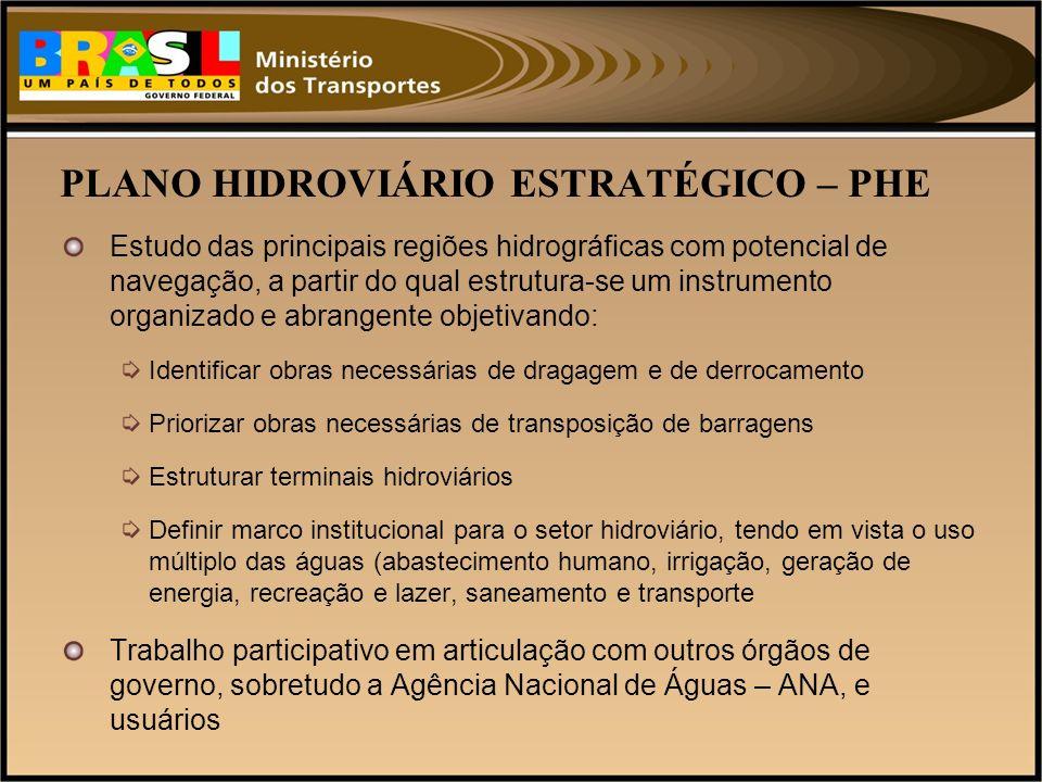 PLANO HIDROVIÁRIO ESTRATÉGICO – PHE