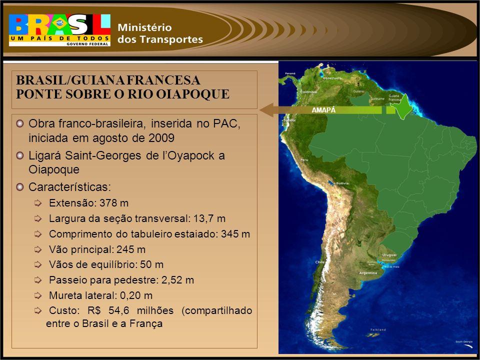 BRASIL/GUIANA FRANCESA PONTE SOBRE O RIO OIAPOQUE