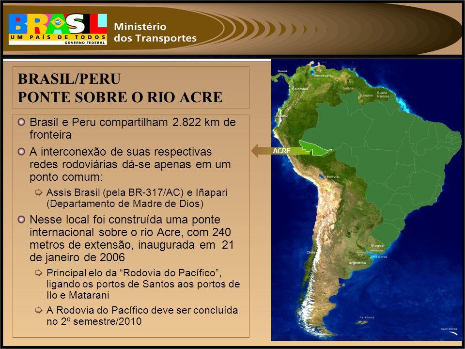 BRASIL/PERU PONTE SOBRE O RIO ACRE