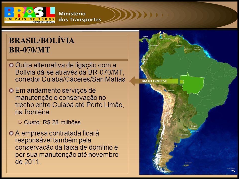 BRASIL/BOLÍVIA BR-070/MT