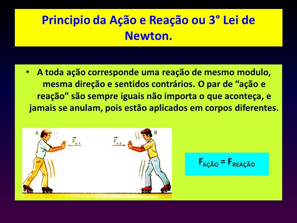 Principio da Ação e Reação ou 3° Lei de Newton.
