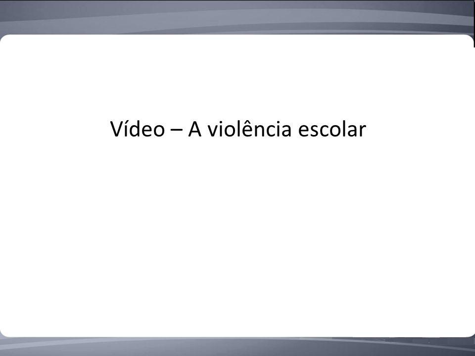 Vídeo – A violência escolar