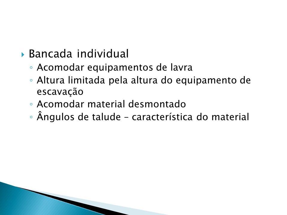 Bancada individual Acomodar equipamentos de lavra