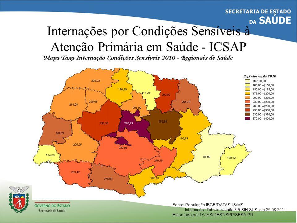 Internações por Condições Sensíveis à Atenção Primária em Saúde - ICSAP