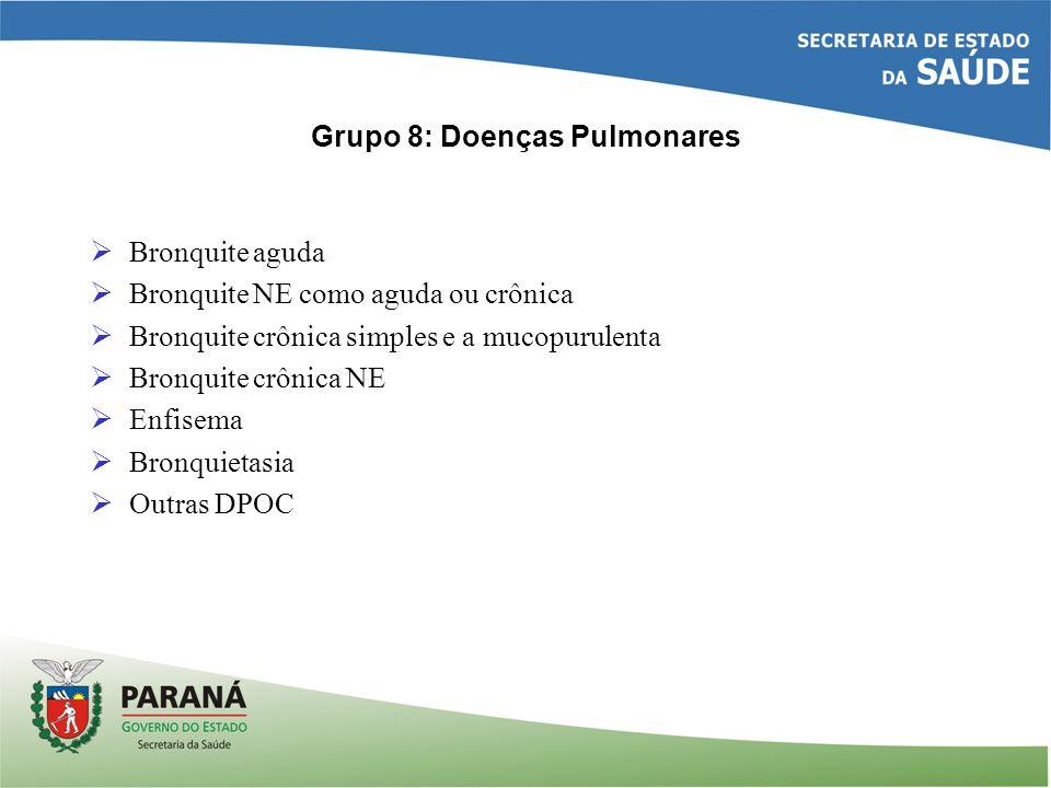 Grupo 8: Doenças Pulmonares