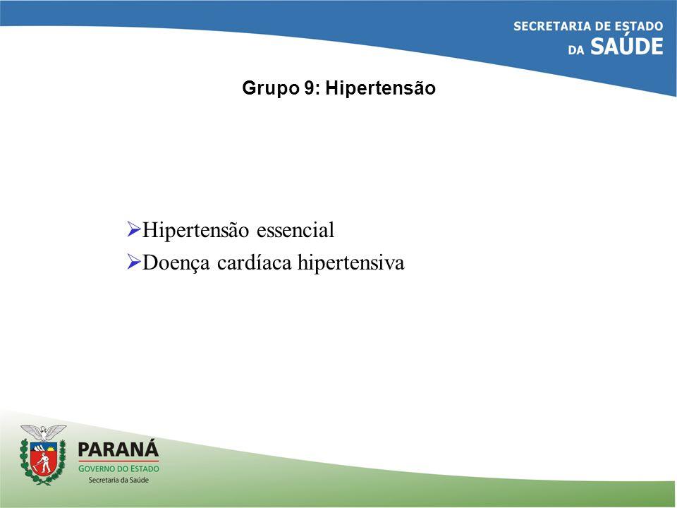 Hipertensão essencial Doença cardíaca hipertensiva