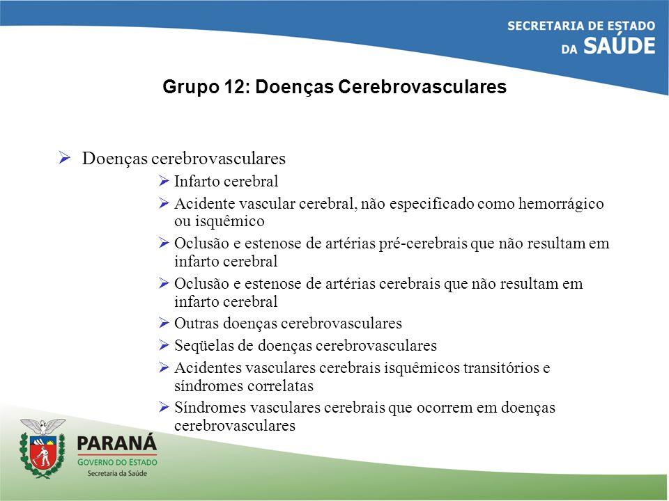 Grupo 12: Doenças Cerebrovasculares