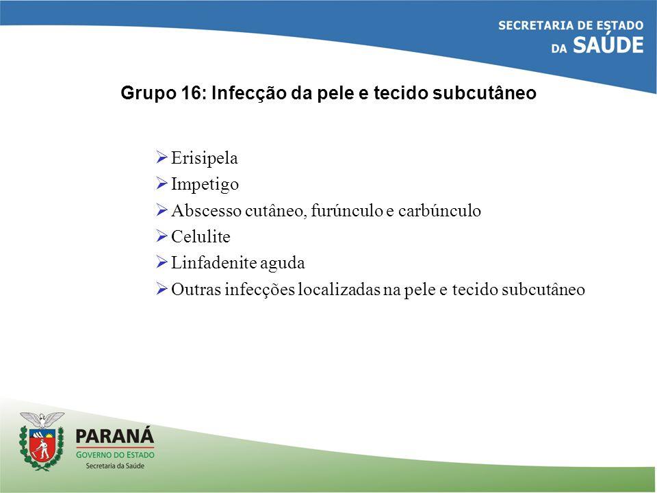 Grupo 16: Infecção da pele e tecido subcutâneo