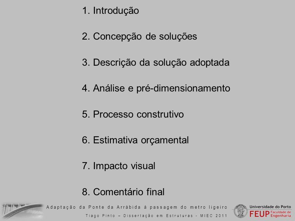 Descrição da solução adoptada Análise e pré-dimensionamento