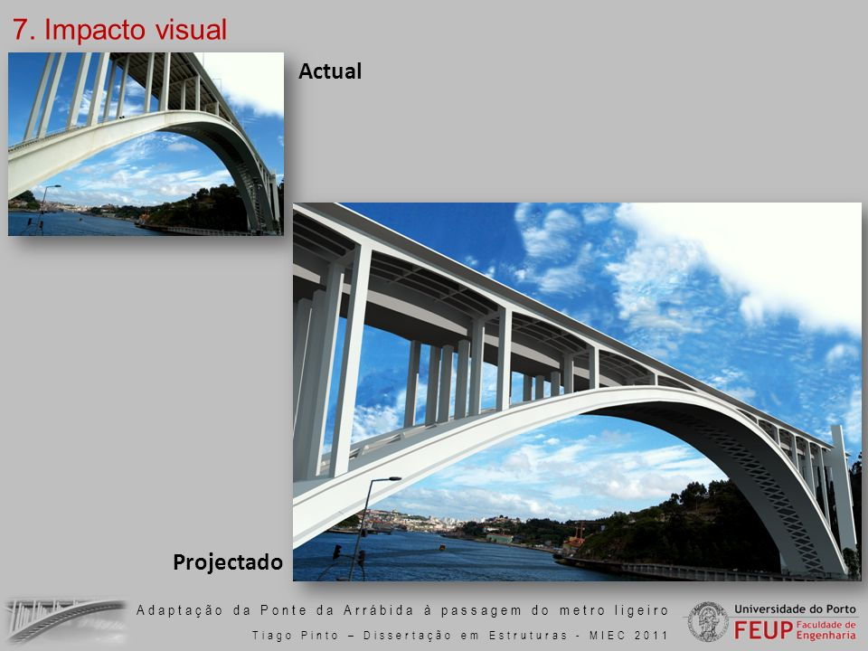 7. Impacto visual Actual Projectado