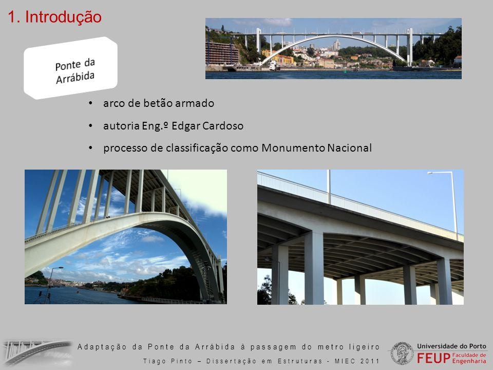 1. Introdução Ponte da Arrábida arco de betão armado