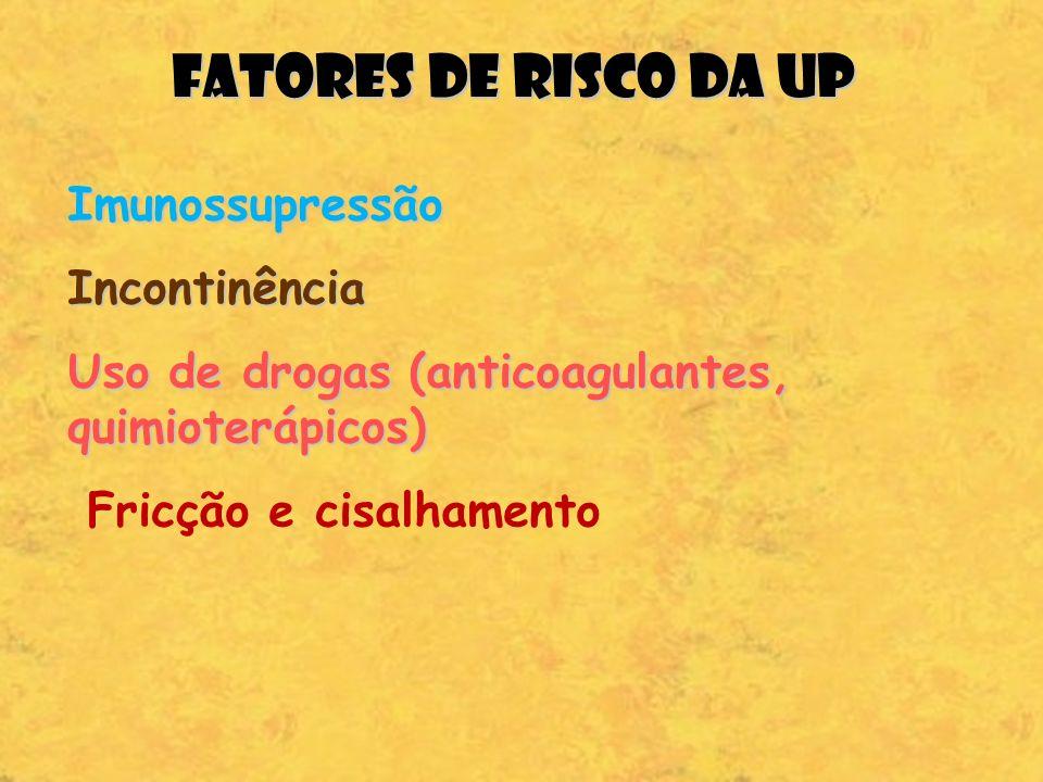 FATORES DE RISCO DA UP Imunossupressão Incontinência