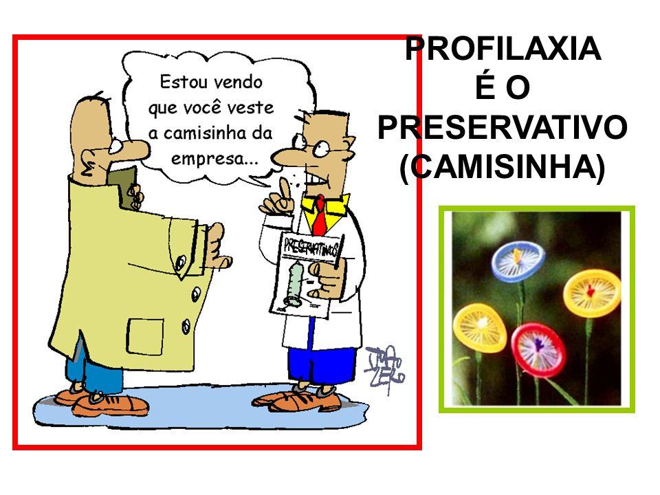 PROFILAXIA É O PRESERVATIVO (CAMISINHA)
