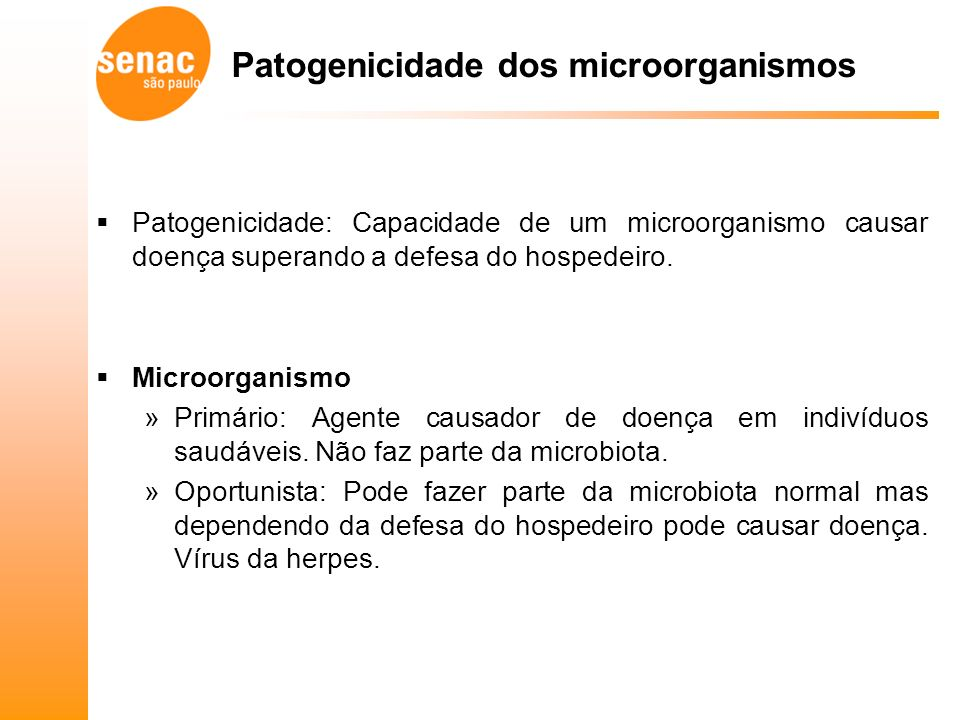 Patogenicidade dos microorganismos