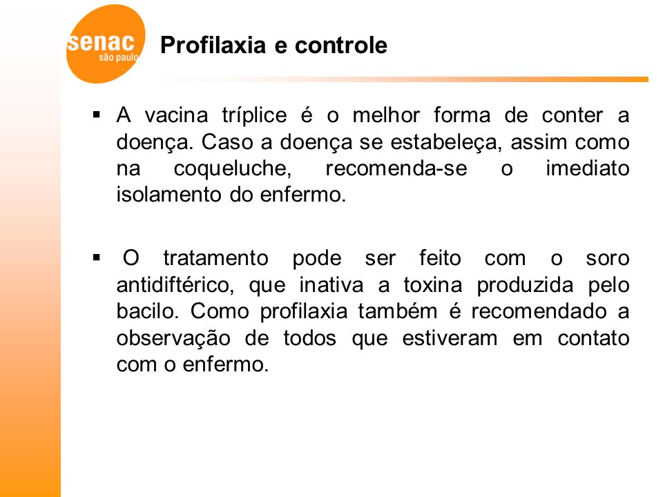 Profilaxia e controle