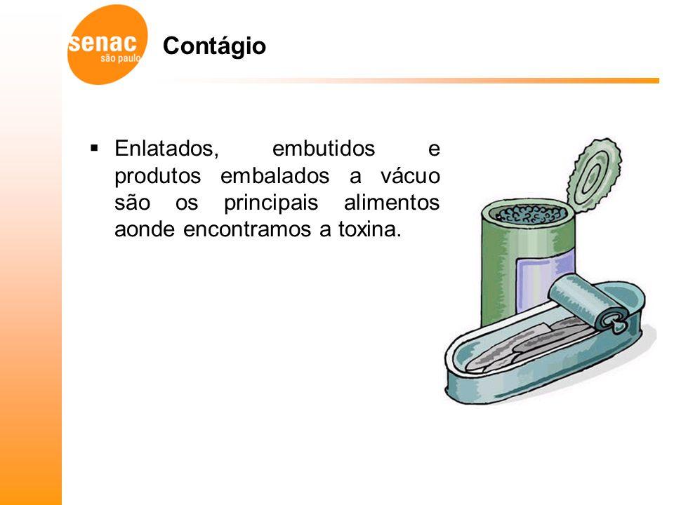 Contágio Enlatados, embutidos e produtos embalados a vácuo são os principais alimentos aonde encontramos a toxina.