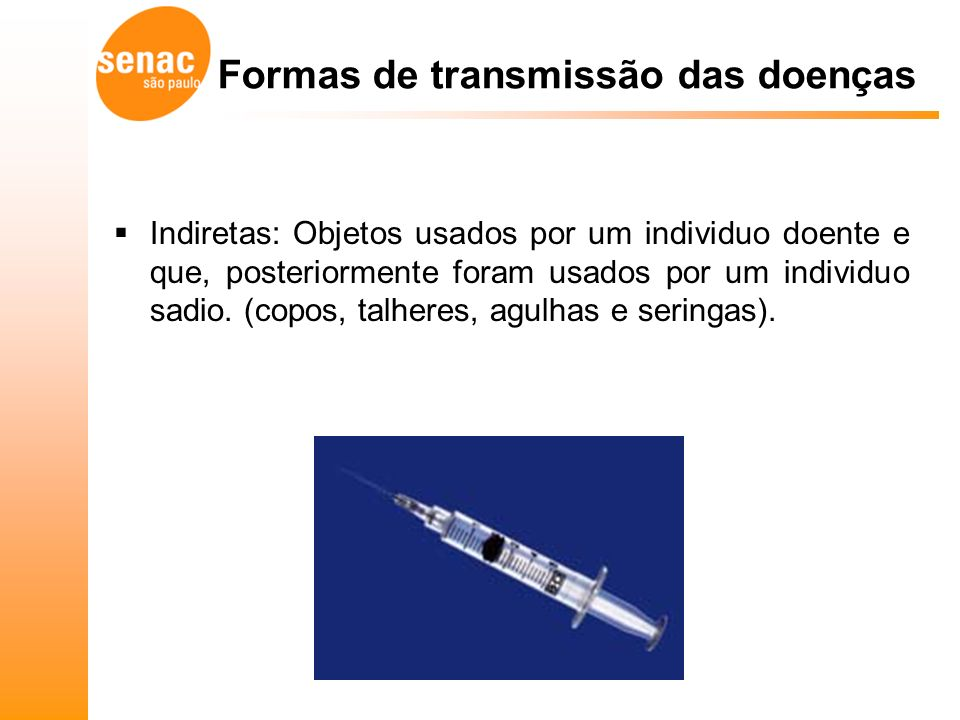 Formas de transmissão das doenças
