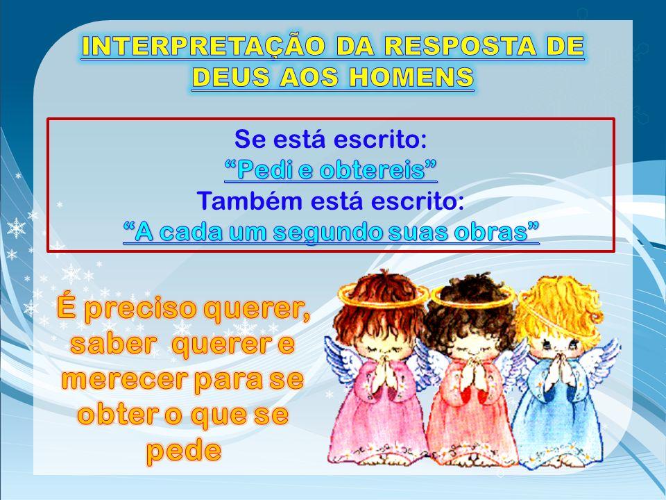 INTERPRETAÇÃO DA RESPOSTA DE DEUS AOS HOMENS