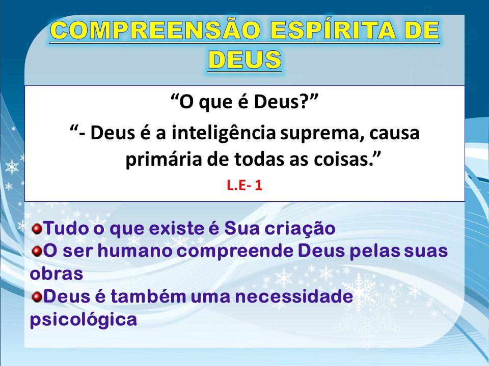 COMPREENSÃO ESPÍRITA DE DEUS