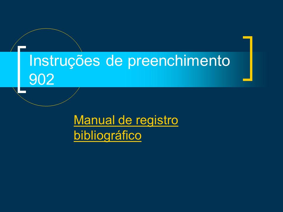 Instruções de preenchimento 902