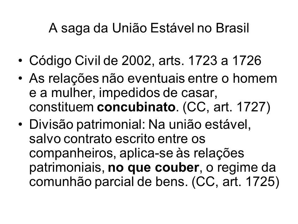A saga da União Estável no Brasil