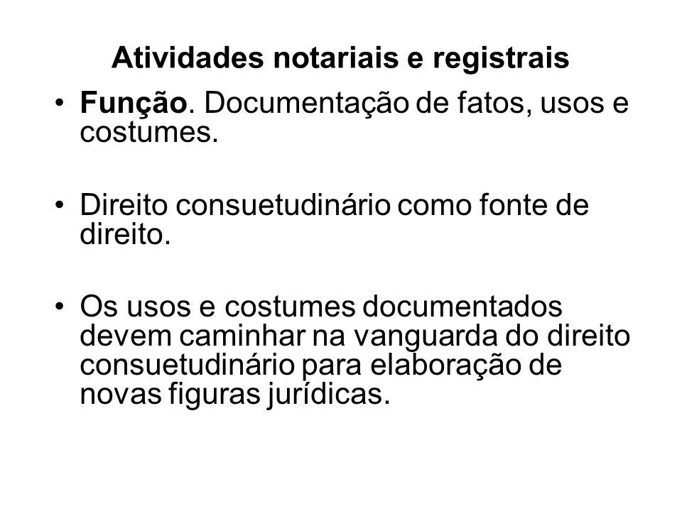 Atividades notariais e registrais