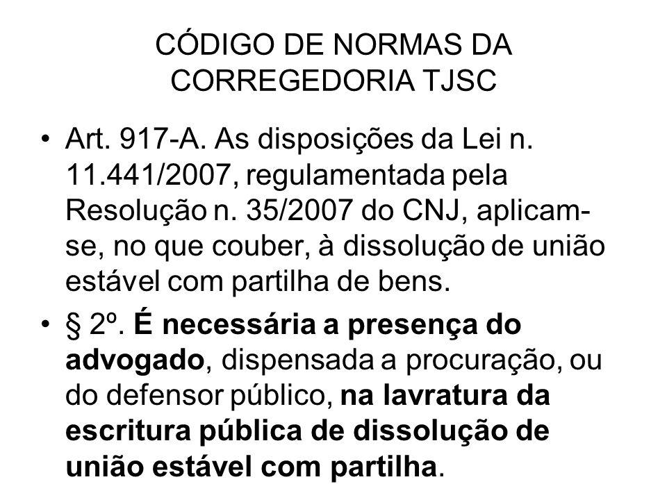 CÓDIGO DE NORMAS DA CORREGEDORIA TJSC