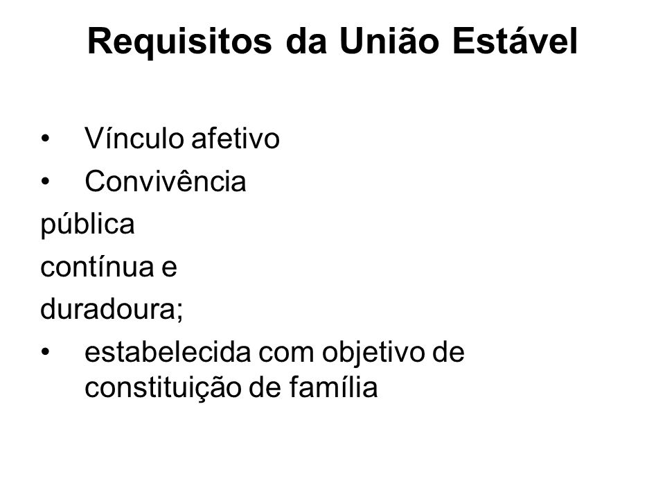 Requisitos da União Estável