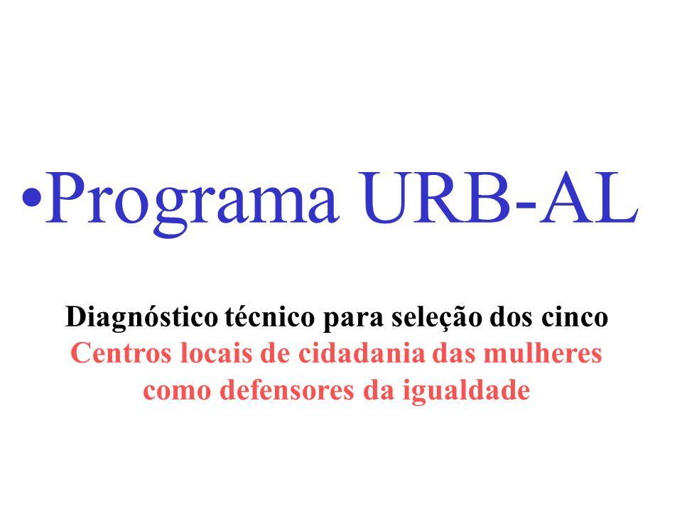 Programa URB-AL Diagnóstico técnico para seleção dos cinco