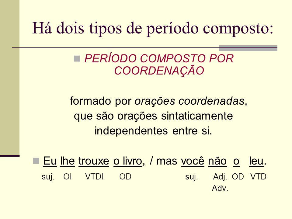 Há dois tipos de período composto:
