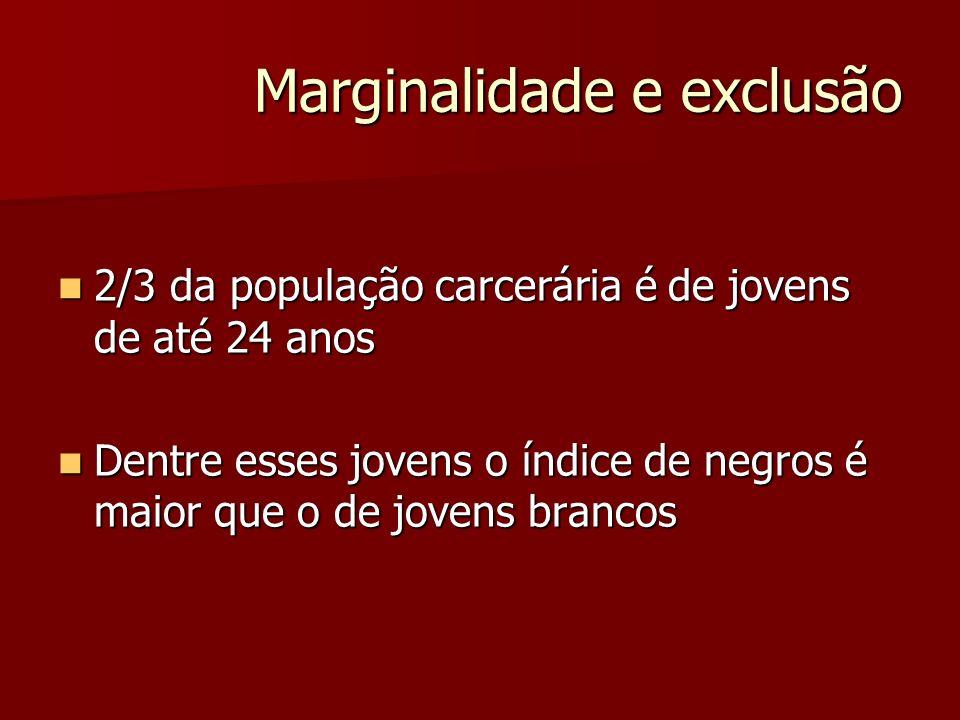 Marginalidade e exclusão