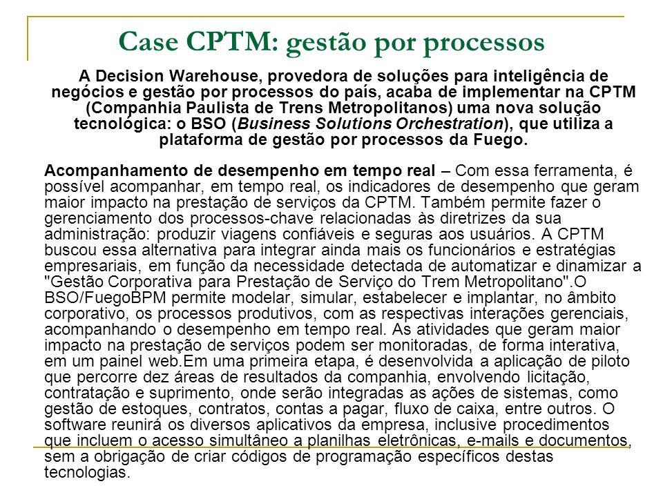 Case CPTM: gestão por processos