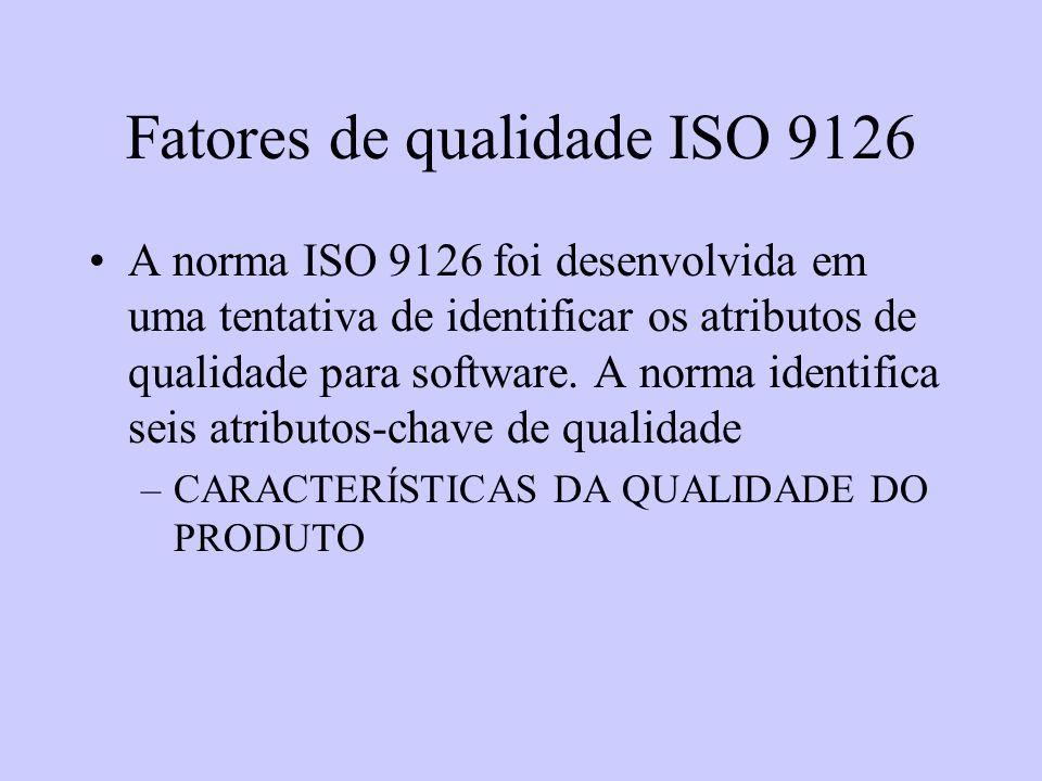 Fatores de qualidade ISO 9126