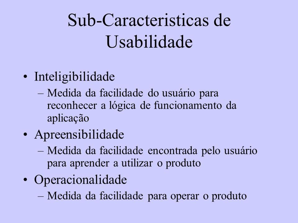 Sub-Caracteristicas de Usabilidade