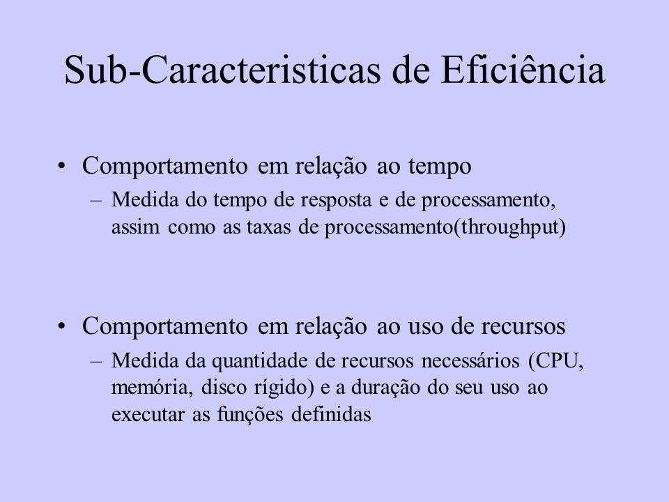 Sub-Caracteristicas de Eficiência
