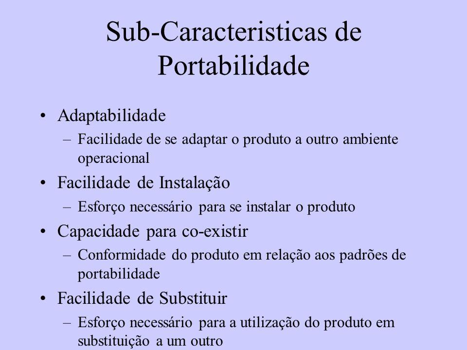 Sub-Caracteristicas de Portabilidade
