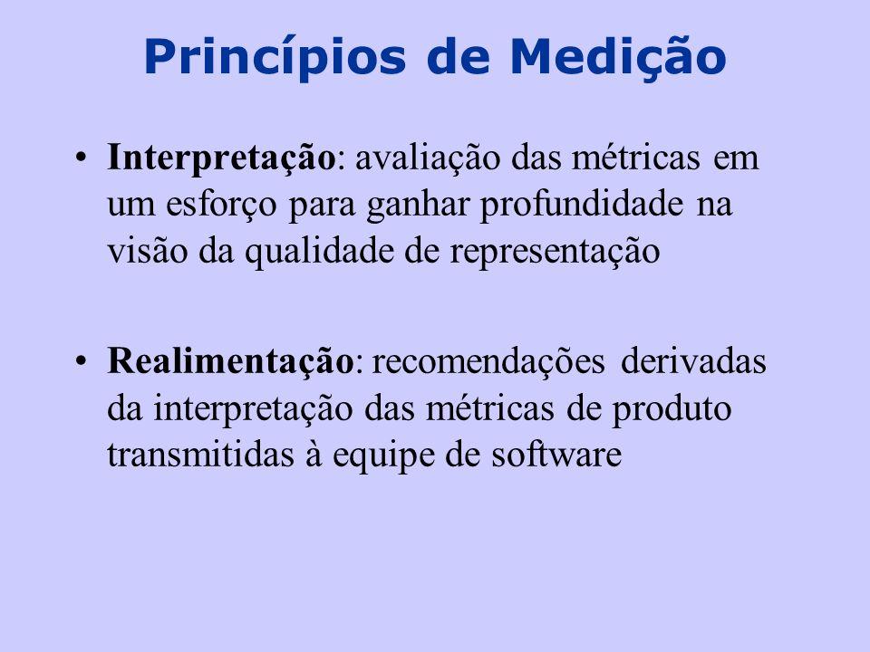 Princípios de Medição Interpretação: avaliação das métricas em um esforço para ganhar profundidade na visão da qualidade de representação.