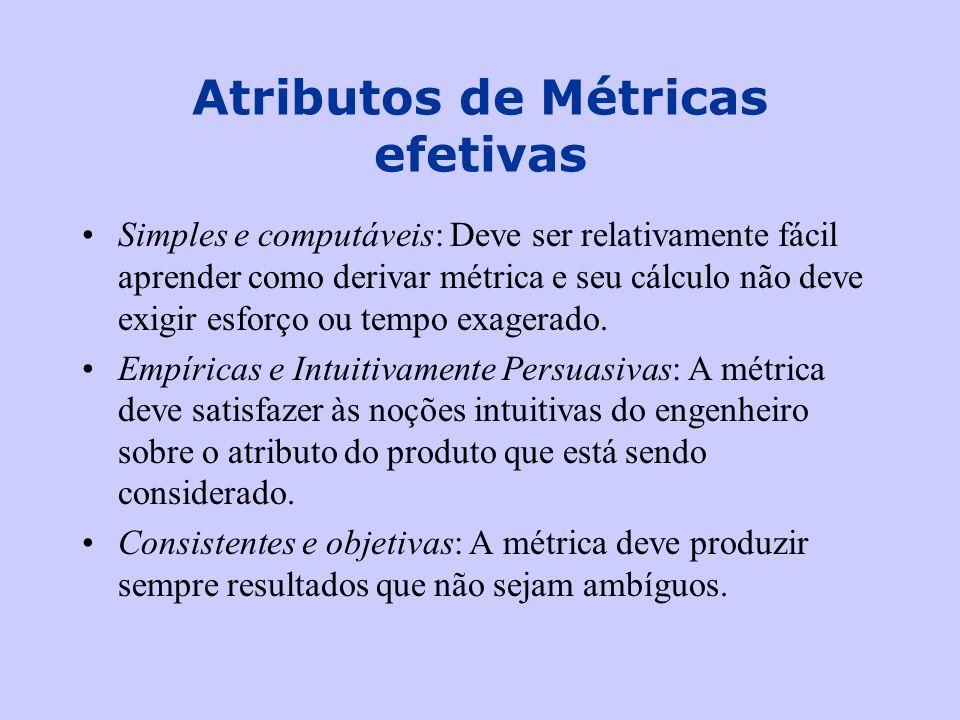 Atributos de Métricas efetivas