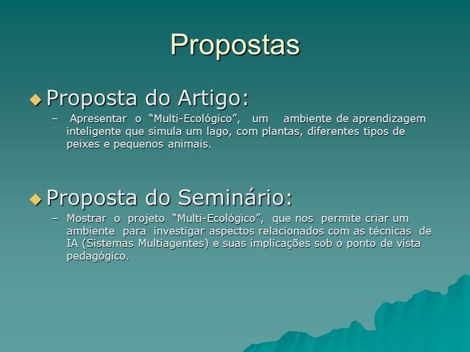 Propostas Proposta do Artigo: Proposta do Seminário: