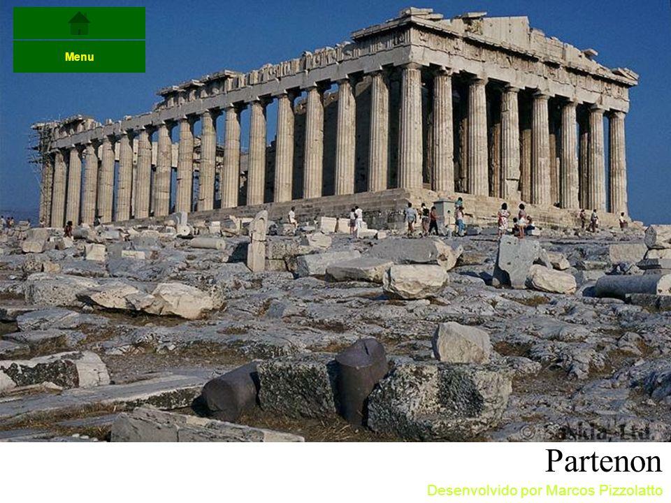 Menu Partenon Desenvolvido por Marcos Pizzolatto