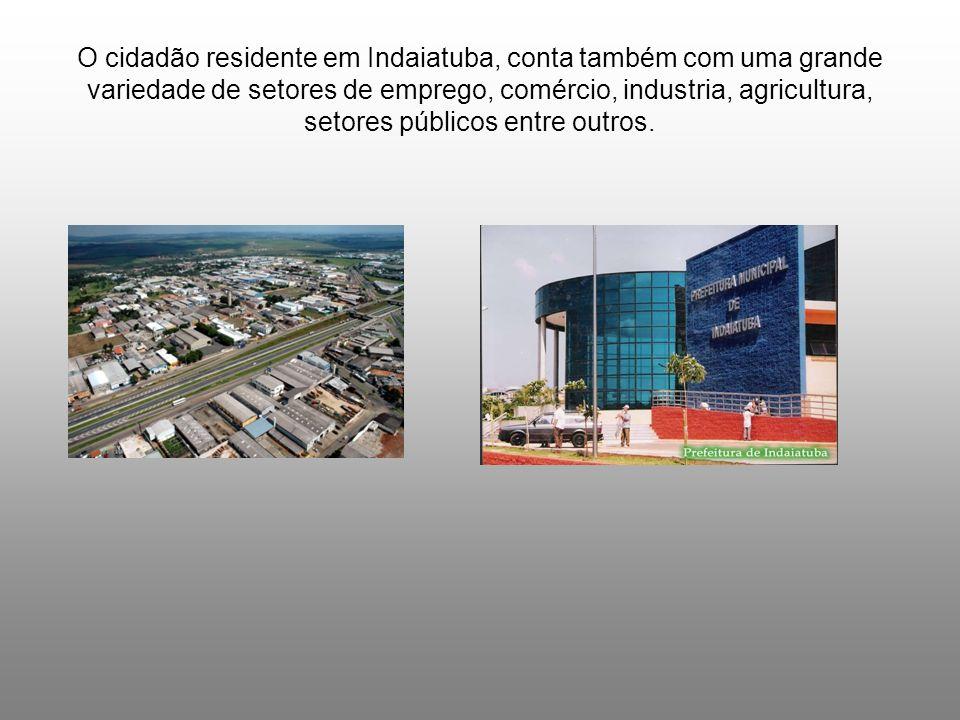 O cidadão residente em Indaiatuba, conta também com uma grande variedade de setores de emprego, comércio, industria, agricultura, setores públicos entre outros.