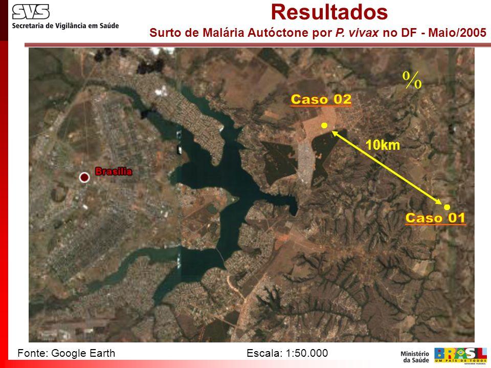  Caso 02 Caso 01 Resultados ● 10km ● Fonte: Google Earth