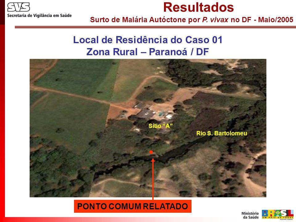 Local de Residência do Caso 01 Zona Rural – Paranoá / DF