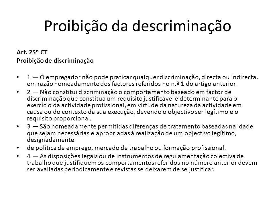 Proibição da descriminação