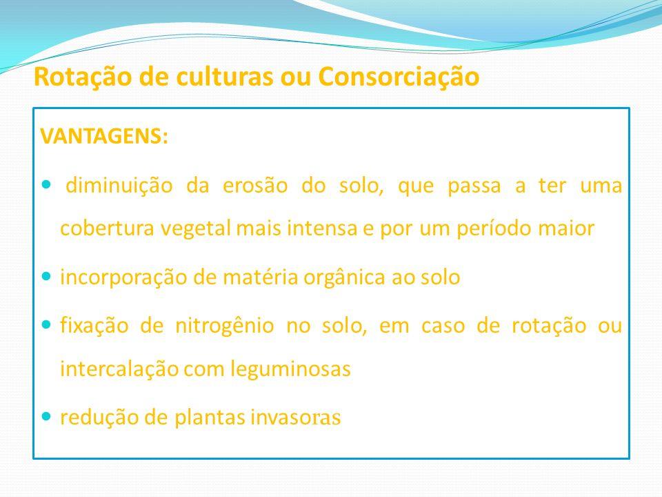 Rotação de culturas ou Consorciação