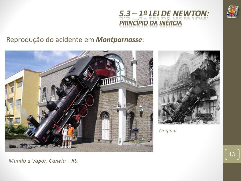 5.3 – 1ª Lei de Newton: Reprodução do acidente em Montparnasse: